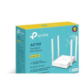 ROUTER INALAMBRICO TP-LINK AC750 GIGABIT DOBLE BANDA 1 PUERTO WAN 10/100 MBPS Y 4 PUERTOS LAN 10/100 MBPS