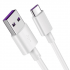 CABLE HUAWEI AP71 USB TIPO C SUPER CARGA COLOR BLANCO