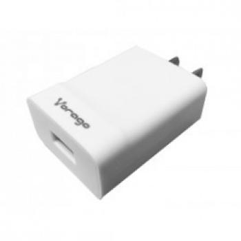 CARGADOR DE PARED VORAGO FAST 3.0A 1 USB BLANCO AU-302-WH