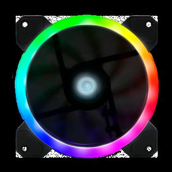 VENTILADOR GAME FACTOR 120MM/RGB+ARCOIRIS/DUAL RING/5 PINES FG400