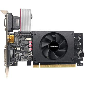 TARJETA DE VIDEO GIGABYTE  NVIDIA GT710/REV 2.0 PCI-E 8X 2.0/2GB DDR3/64 bit D-SUB/DUAL-LINK DVI-D/HDMI