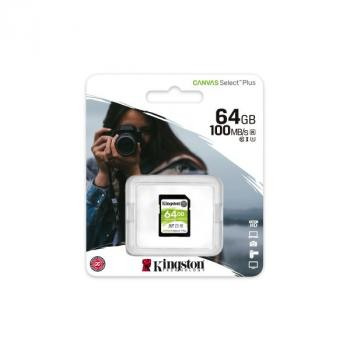 MEMORIA SD KINGSTON SDXC CANVAS SELECT 100R CL10 SDS2/64GB