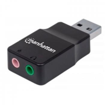 CONVERTIDOR MANHATTAN USB 2.0 A TARJETA SONIDO 2.1 152754