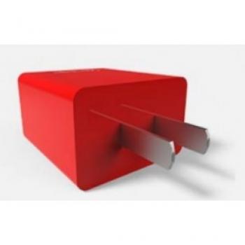 CARGADOR PARA PARED VORAGO 2 PUERTOS USB ROJO AU-106-RD