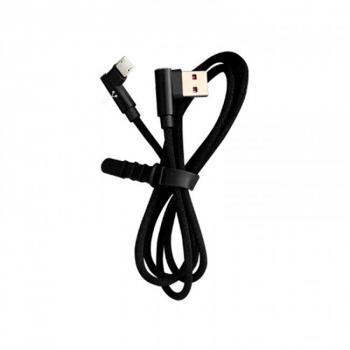 CABLE VORAGO CAB-305 USB A MICRO USB 2,4A 90 GRADOS NEGRO