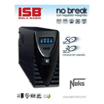 NO BREAK SOLA BASIC NBKS-1000 1000VA/500W, 8 CONTACTOS 50MIN RESPALDO