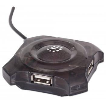 HUB MINI USB 4 PUERTOS MANHATTAN MOD. 162272