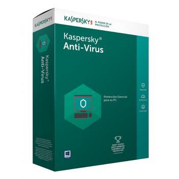 Antivirus Kaspersky 2017 3 us 1 año