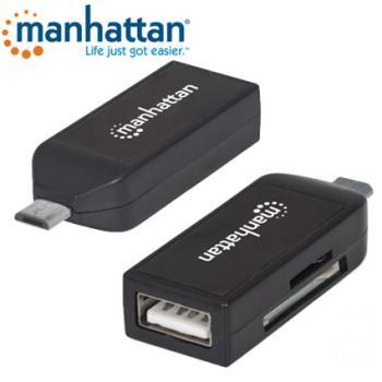 LECTOR DE TARJETAS OTG MANHATTAN 24 EN1+USB SMARTPHONE TABLET 406222