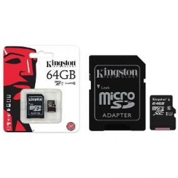 MEMORIA MICRO SDHC/SDXC C-10 KINGSTON 64GB SDCS/64GB