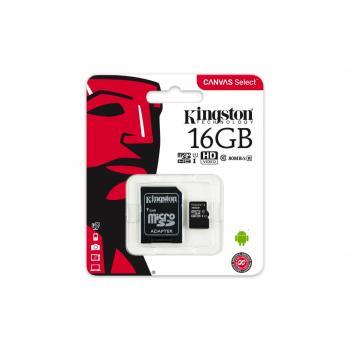 MEMORIA MICRO SDHC/SDXC 80R UHS-I C-10 KINGSTON 16GB SDCS/16G