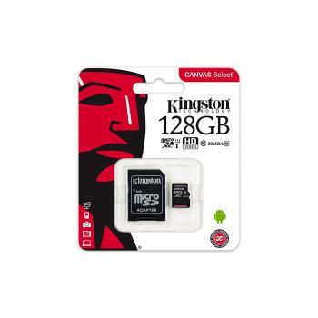 MEMORIA KINGSTON MICRO SDHC-SDCX C-10 128GB SDCS-128GB