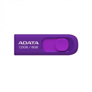 MEMORIA FLASH ADATA 8GB MORADO AC008-8GB-RPU
