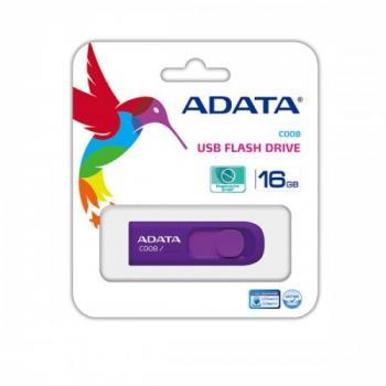 MEMORIA ADATA USB 16GB MORADO AC008-16G-RPU