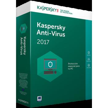 Antivirus Kaspersky 2017 1 us 1 año