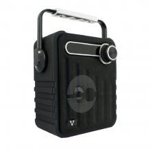 Bocinas Vorago Color Negro Bluetooth, Recargable MSD/USB/FM/3.5mm