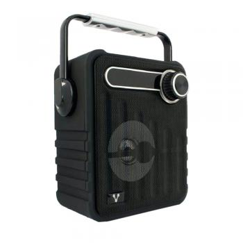 Bocinas Vorago Color Negro Bluetooth, Recargable MSD/USB/FM/3.5mm