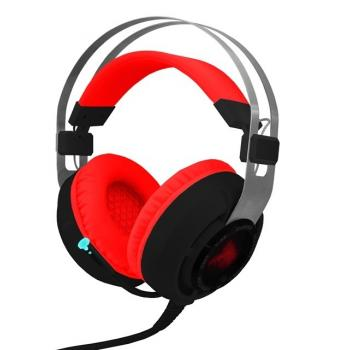 AUDIFONOS GAMING EAGLE WARRIOR MIC RAVEN 7.1 NEGRO/ROJO USB ACFHS88RAVEN