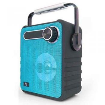 Bocinas Vorago Color Azul Bluetooth, Recargable MSD/USB/FM/3.5mm