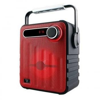Bocinas Vorago Color Rojo Bluetooth, Recargable MSD/USB/FM/3.5mm