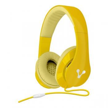 Audífono Vorago Alta Fidelidad Color Amarillo