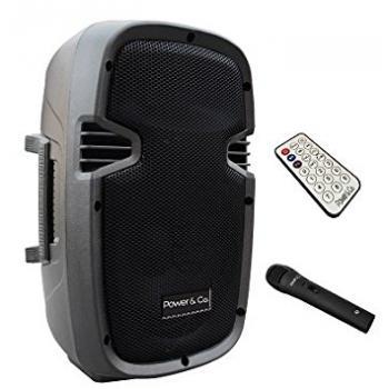 Bocina Amplificada Bluetooth Color Negro Power & Co