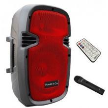 Bocina Amplificada Bluetooth Color Rojo Power & Co