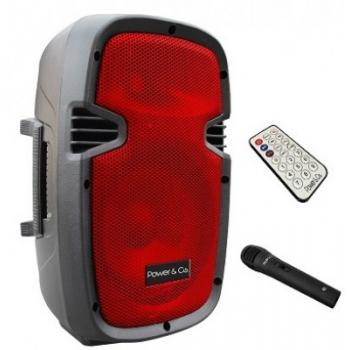 Bocina Amplificada Bluetooth Color Rojo Power & Co