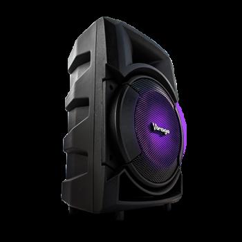 """Bocina Karaoke Vorago Color Negro 8"""" KSP-300"""