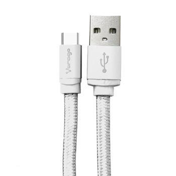 CABLE VORAGO CAB-123 USB-TIPO C BLANCO