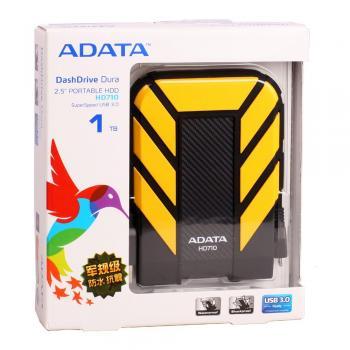 "DISCO DURO EXTERNO 2.5"" AHD710-1TU3-CYL 1TB ADATA C/GOMA AMARILLO"