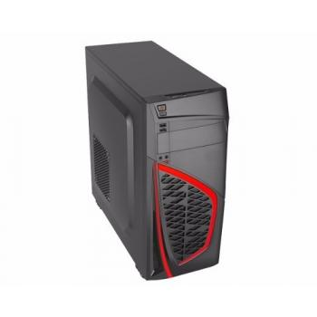 GABINETE EAGLE WARRIOR GAMING CG08R0 ROJO SIN FUENTE MEDIA TORRE AT REP12M