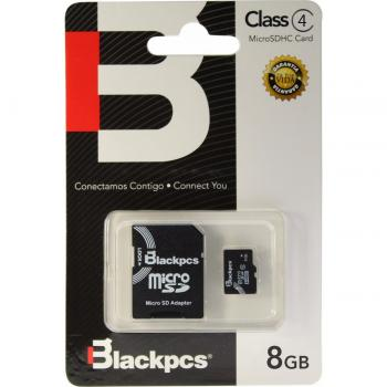 MEMORIA MICRO SDHC BLACKPCS 8GB MM4101-8