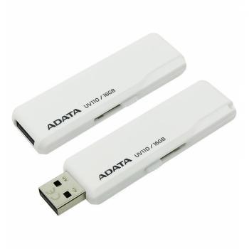 MEMORIA FLASH ADATA UV110 16GB USB BLANCO (AUV110-16G-RWH)