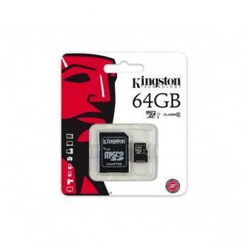 MEMORIA MICRO SD CLASE 10 G2 KINGSTON 64GB SDC10G2/64GB
