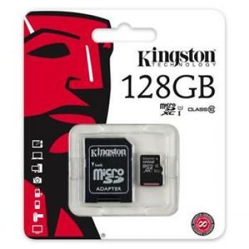 MEMORIA MICRO SD CLASE10 G2 KINGSTON 128 GB (SDC10G2/128GB)