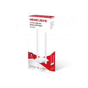 ADAPTADOR INALAMBRICO MERCUSYS-USB 2,0-N300-2 ANT-5dBi-MW300UH