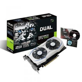 TARJETA DE VIDEO ASUS DUAL-GTX1050-O2G- 2GB GDDR5 128BIT DVI/HDMI/DPOR