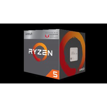 AMD RYZEN 5 2400G, W5 3.6 GHZ 65W SOC AM4 RADEON RX VEGA GRAPHICS YD2