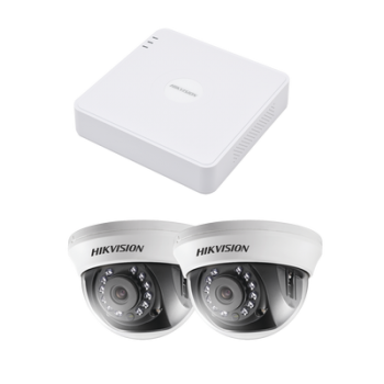 KIT HIKVISION 2 CAMARAS (INTERIOR 2.8 MM)  TURBOHD 720P / DVR 4 CANALES (INTERIOR 2.8 MM) / HIK-CONNECT